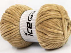 Lot of 4 x 100gr Skeins Ice Yarns CHENILLE BABY (100% MicroFiber) Yarn Light Camel