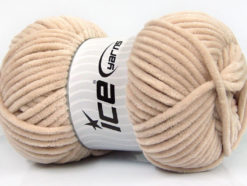 Lot of 4 x 100gr Skeins Ice Yarns CHENILLE BABY (100% MicroFiber) Yarn Beige