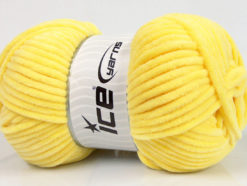 Lot of 4 x 100gr Skeins Ice Yarns CHENILLE BABY (100% MicroFiber) Yarn Light Yellow