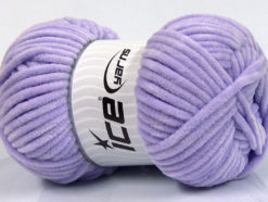 Lot of 4 x 100gr Skeins Ice Yarns CHENILLE BABY (100% MicroFiber) Yarn Light Lilac