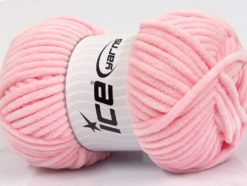 Lot of 4 x 100gr Skeins Ice Yarns CHENILLE BABY (100% MicroFiber) Yarn Light Pink