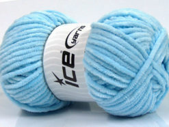 Lot of 4 x 100gr Skeins Ice Yarns CHENILLE BABY (100% MicroFiber) Yarn Baby Blue