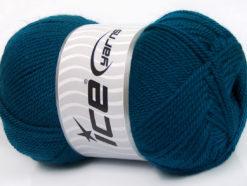 Lot of 4 x 100gr Skeins Ice Yarns DORA Hand Knitting Yarn Dark Teal