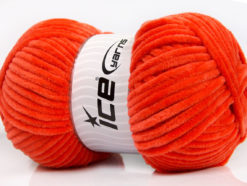 Lot of 4 x 100gr Skeins Ice Yarns CHENILLE BABY (100% MicroFiber) Yarn Salmon