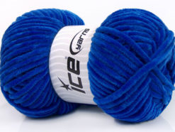 Lot of 4 x 100gr Skeins Ice Yarns CHENILLE BABY (100% MicroFiber) Yarn Royal Blue