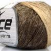 Lot of 8 Skeins Ice Yarns SOFT CHAIN WOOL (30% Wool) Yarn Brown Camel Cream