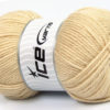 Lot of 4 x 100gr Skeins Ice Yarns Worsted FAVORITE Yarn Light Beige