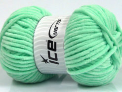 Lot of 4 x 100gr Skeins Ice Yarns CHENILLE BABY (100% MicroFiber) Yarn Mint Green