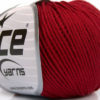 Lot of 4 Skeins Ice Yarns ORGANIC BABY COTTON (100% Organic Cotton) Yarn Burgundy
