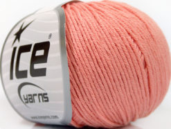 Lot of 4 Skeins Ice Yarns ORGANIC BABY COTTON (100% Organic Cotton) Yarn Pink