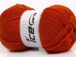 Lot of 4 x 100gr Skeins Ice Yarns Worsted FAVORITE Hand Knitting Yarn Orange