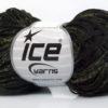 Lot of 8 Skeins Ice Yarns VISCOSE SHINE BULKY (82% Viscose) Yarn Black Dark Green