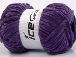 Lot of 4 x 100gr Skeins Ice Yarns CHENILLE BABY (100% MicroFiber) Yarn Lavender