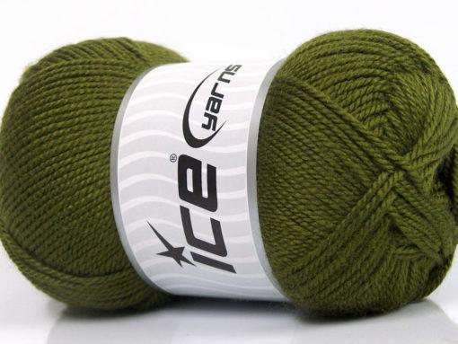 Lot of 4 x 100gr Skeins Ice Yarns DORA Hand Knitting Yarn Khaki