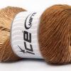 Lot of 4 x 100gr Skeins Ice Yarns PRIMADONNA (50% Wool) Yarn Brown Shades Cream