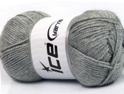 Lot of 4 x 100gr Skeins Ice Yarns DORA Hand Knitting Yarn Light Grey