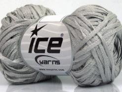 Lot of 8 Skeins Ice Yarns VIOLINO Hand Knitting Yarn Light Grey