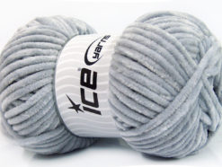 Lot of 4 x 100gr Skeins Ice Yarns CHENILLE BABY (100% MicroFiber) Yarn Grey