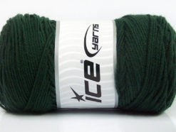 Lot of 2 x 200gr Skeins Ice Yarns SAVER Hand Knitting Yarn Dark Green