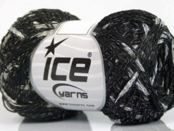 Lot of 8 Skeins Ice Yarns SALE SUMMER (33% Cotton) Yarn Black White