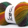 Lot of 4 x 100gr Skeins Ice Yarns MAGIC LIGHT Yarn Purple Shades Green Shades Pink Yellow