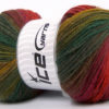 Lot of 4 x 100gr Skeins Ice Yarns MAGIC LIGHT Yarn Green Shades Red Yellow Pink Fuchsia