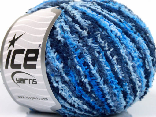 Lot of 8 Skeins Ice Yarns PUFFY FINE Hand Knitting Yarn Blue Shades