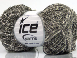 Lot of 8 Skeins Ice Yarns PEPERONCINO (62% Cotton 23% Viscose) Yarn Cream Black