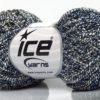 Lot of 8 Skeins Ice Yarns PEPERONCINO (62% Cotton 23% Viscose) Yarn Cream Blue