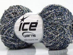 Lot of 8 Skeins Ice Yarns PEPERONCINO (62% Cotton 23% Viscose) Yarn Cream Blue