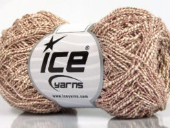 Lot of 8 Skeins Ice Yarns PEPERONCINO (62% Cotton 23% Viscose) Yarn Cream Rose Brown