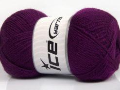 Lot of 4 x 100gr Skeins Ice Yarns DORA Hand Knitting Yarn Purple