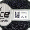Lot of 6 Skeins Ice Yarns DAPHNE COTTON METALLIC (96% Mercerized Cotton) Yarn Black Silver
