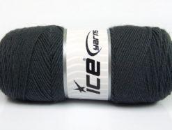 Lot of 4 x 100gr Skeins Ice Yarns BONITO (50% Wool) Yarn Dark Grey