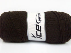Lot of 4 x 100gr Skeins Ice Yarns BONITO (50% Wool) Yarn Coffee Brown