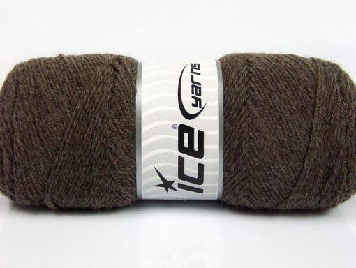 Lot of 4 x 100gr Skeins Ice Yarns BONITO (50% Wool) Hand Knitting Yarn Brown
