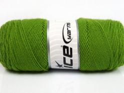 Lot of 4 x 100gr Skeins Ice Yarns BONITO (50% Wool) Yarn Light Green