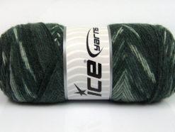 Lot of 4 x 100gr Skeins Ice Yarns BONITO ETHNIC (50% Wool) Yarn Grey Shades