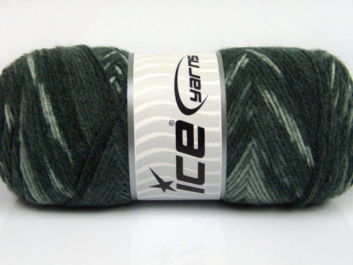 Lot of 4 x 100gr Skeins Ice Yarns BONITO ETHNIC (50% Wool) Yarn Grey Shades