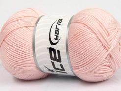 Lot of 3 x 100gr Skeins Ice Yarns BABY COMFORT Hand Knitting Yarn Light Pink