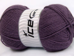 Lot of 4 x 100gr Skeins Ice Yarns ELITE WOOL (30% Wool) Yarn Purple