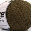 Lot of 8 Skeins Ice Yarns WOOL CORD SPORT (50% Wool) Yarn Dark Khaki