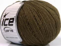 Lot of 8 Skeins Ice Yarns WOOL CORD SPORT (50% Wool) Yarn Dark Khaki