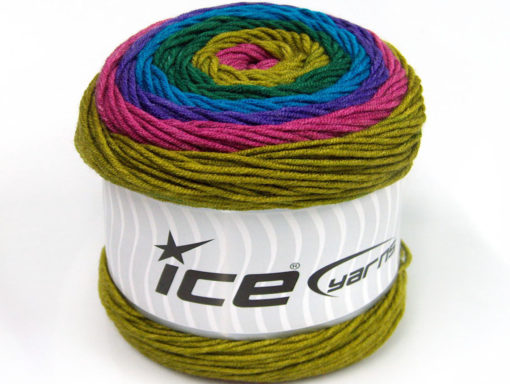 Lot of 2 x 200gr Skeins Ice Yarns CAKES ARAN Yarn Orchid Purple Turquoise Green Shades