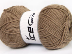 Lot of 4 x 100gr Skeins Ice Yarns GONCA Hand Knitting Yarn Camel