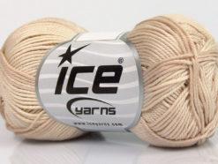 Lot of 6 Skeins Ice Yarns COTTON FINE MELANGE (100% Mercerized Cotton) Yarn Beige