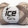 Lot of 6 Skeins Ice Yarns COTTON FINE MELANGE (100% Mercerized Cotton) Yarn Camel