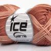 Lot of 6 Skeins Ice Yarns COTTON FINE MELANGE (100% Mercerized Cotton) Yarn Copper