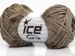 Lot of 8 Skeins Ice Yarns VIOLINO Hand Knitting Yarn Dark Camel