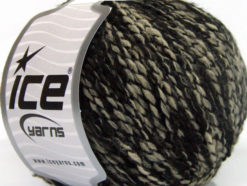 Lot of 8 Skeins Ice Yarns FLORIDA LANA (20% Wool) Yarn Black Beige